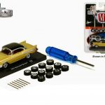 Auto Wheels 1957 Chevrolet Bel Air Gold Chip Foose 1/64 Diecast Model Car by M2 Machines