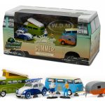 Motor World Multi-Car Diorama Set Volkswagen Summer Festival 6pcs 1/64 Diecast Models by Greenlight