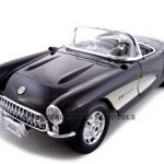 1957 Chevrolet Corvette Black 1/18 Diecast Model Car by Maisto