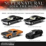Hollywood Film Reels Series 2 Supernatural 4 Cars Pack (2005 Current TV Series) 1/64 Diecast Car Models by Greenlight