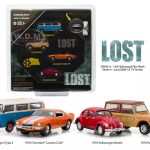 Hollywood Film Reels Series 4 Lost (2004-2010) TV Series 4 Cars Set 1/64 Diecast Model Cars by Greenlight