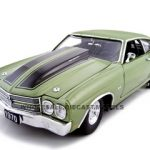 1970 Chevrolet Chevelle SS 454 Pro Street Green 1/24 Diecast Car by Unique Replicas