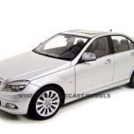 Mercedes C Class Silver 1/18 Diecast Model Car by Autoart