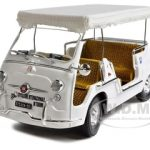 Fiat 600D Multipla Open Taxi Esposizione Mondiale Torino White 1/18 Diecast Model Car by Unique Replicas
