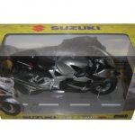 Suzuki GSX 1300 R Silver/Black Motorcycle Model 1/12 by Automaxx