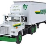 Mack R Model With 28 Pop Trailer Murphy Motor Freight 1/64 Diecast Model by First Gear