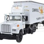 Mack R Model With 28 Pop Trailer Campbell 66 Express 1/64 Diecast Model by First Gear