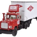 Mack R Model With 28 Pop Trailer APA Transport 1/64 Diecast Model by First Gear