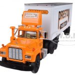 Mack R Model With 28 Pop Trailer Preston The 151 Line 1/64 Diecast Model by First Gear