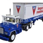 Mack R Model With 28 Pop Trailer Imperial Roadways 1/64 Diecast Model by First Gear