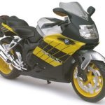 BMW K1200S Yellow Motorcycle Model 1/12 by Automaxx