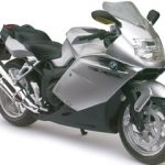 BMW K1200S Silver Motorcycle Model 1/12 by Automaxx