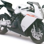 KTM RC8 White Motorcycle Model 1/12 by Automaxx