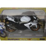Suzuki GSX R 1000 White/Silver Motorcycle Model 1/12 by Automaxx