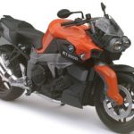 BMW K1300R Orange Motorcycle Model 1/12 by Automaxx