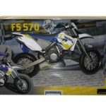 2010 Husaberg FS 570 Blue Dirt Bike Motorcycle Model 1/12 by Automaxx
