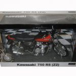 Kawasaki 750 RS (Z2) Orange with Brown Motorcycle Model 1/12 by Automaxx