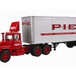 Mack R Model Day Cab P.I.E. With 28 Pop Trailer 1/64 Diecast Model by First Gear