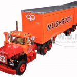 Mack R Model Truck Mushroom With Dual 28 Pup Trailers 1/64 by First Gear
