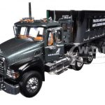 Mack Granite With Chrome 22 End Dump Trailer 1/64 Diecast Model by First Gear