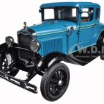 1931 Ford Model A Coupe Blue 1/18 Diecast Model Car by Sunstar