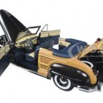 1948 Chrysler Town And Country Gunmetal Gray 1/18 Diecast Model Car by Sunstar