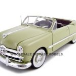 1949 Ford Convertible Green 1/24 Diecast Car by Unique Replicas
