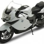BMW K1300S White 1/10 Diecast Motorcycle Model  by Welly