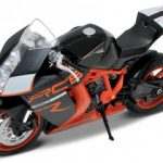 KTM 1190 RC8 R Orange/Black 1/10 Diecast Motorcycle Model by Welly