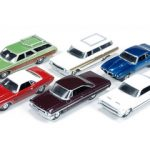 Autoworld Muscle Cars Premium Set Of 6 Cars Release 2 1/64 Diecast Car Models by Autoworld