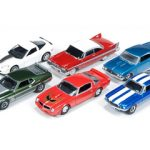 Autoworld Muscle Cars Release A Premium Licensed Set Of 6 Cars 1/64  Diecast Model Car by Autoworld