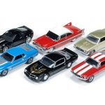 Autoworld Muscle Cars Release B Premium Licensed Set Of 6 Cars 1/64 Diecast Model Car  by Autoworld
