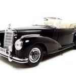 1955 Mercedes 300S Cabriolet Black 1/18 Diecast Car Model by Maisto