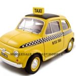 Fiat 500 Taxi Cab 1/18 Diecast Model Car by Bburago