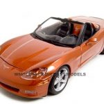 2005 Chevrolet Corvette C6 Convertible Bronze 1/18 Diecast Model Car by Maisto