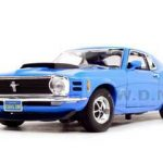 1970 Ford Mustang Boss 429 Blue 1/18 Diecast Model Car by Motormax