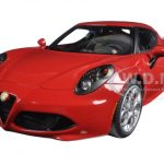 Alfa Romeo 4C Alfa Red 1/18 Model Car by Autoart