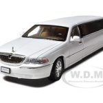 2003 Lincoln Town Car Limousine White Diecast Model Car by Sunnyside