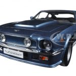 1985 Aston Martin V8 Vantage Chichester Blue 1/18 Diecast Model Car by Autoart