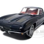 1963 Chevrolet Corvette Sting Ray Split Window Coupe Daytona Blue 1 of 6000 Produced 1/18 Diecast Model Car by Autoart