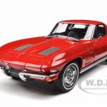 1963 Chevrolet Corvette Sting Ray Split Window Riverside Red 1/18 Diecast Model Car by Autoart