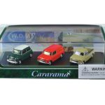 Mini Cooper 3 Piece Gift Set in Display Showcase 1/72 Diecast Model Car by Cararama