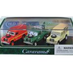 Land Rover 3 Piece Gift Set in Display Showcase 1/72 Diecast Model Car by Cararama