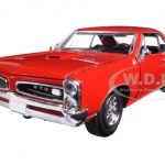 1966 Pontiac GTO Red 1/25 Diecast Model Car by New Ray