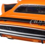 1970 Plymouth Cuda Orange with Black 1/24 Diecast Model Car by New Ray