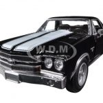 1970 Chevrolet El Camino SS Black 1/24 Diecast Car Model by New Ray
