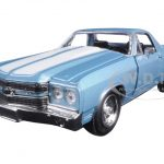 1970 Chevrolet El Camino SS Blue 1/24 Diecast Model Car by New Ray