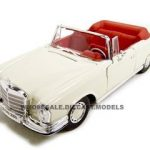 1967 Mercedes 280 SE Convertible Cream 1/18 Diecast Model Car by Maisto