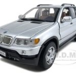 BMW X5 Silver 1/18 Diecast Model Car by Motormax