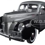 1940 Ford Deluxe Grey with Black Timeless Classics 1/18 Diecast Model Car by Motormax